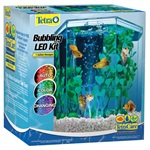 1 Gallon Bubbling LED Desktop Aquarium Kit